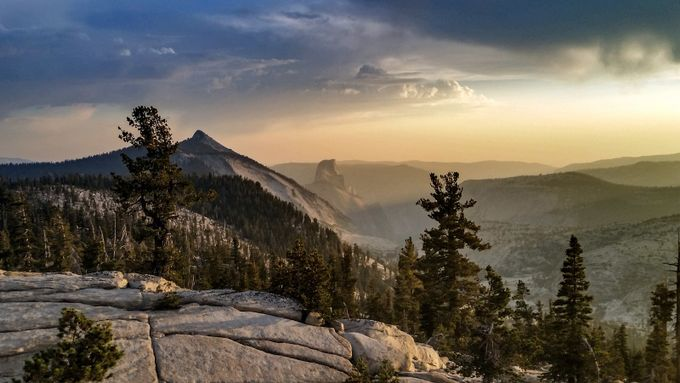 Half Dome sunset, Yosemite National Park  by Walklightphoto - Spectacular Cliffs Photo Contest