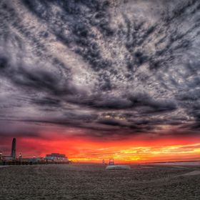 HDR sunrise in Ocean City, New Jersey