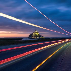 Follow the light to the Mont Saint Michel !!!