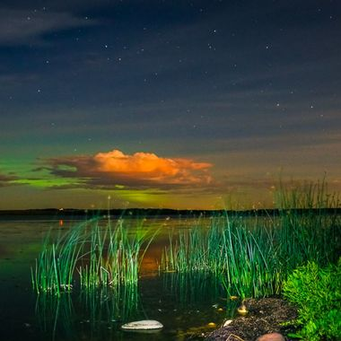 Night shoot of the lake
