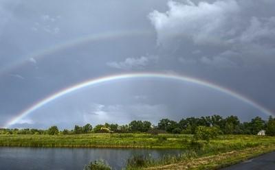 Construction Site Double Rainbow