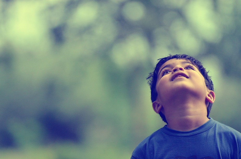 Happiness is seeing your little kid enjoying nature.