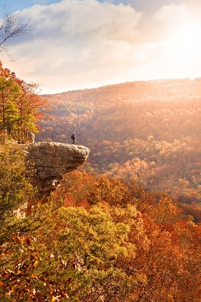 Autumn Arkansas Hiker