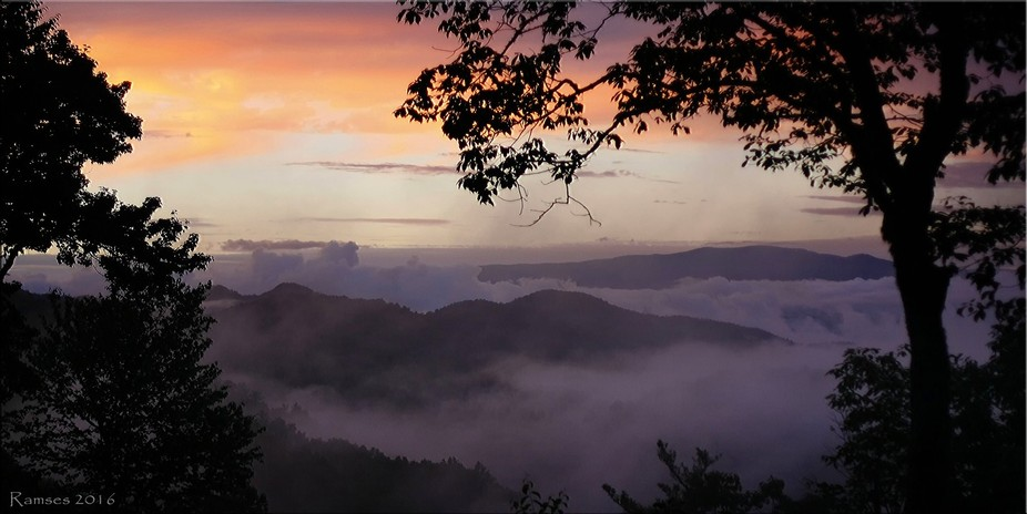Our view from our cabin in Nantahala NC 2016