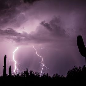 Another great shot of an awesome lightning storm in Tucson, Arizona