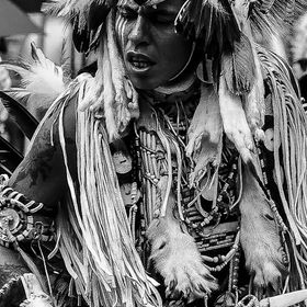 The detail in this warrior's costume was amazing.  Shot sat a local pow wow.