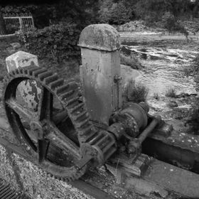 One of the old gears at the waterway at the old Mill in sion Strabane