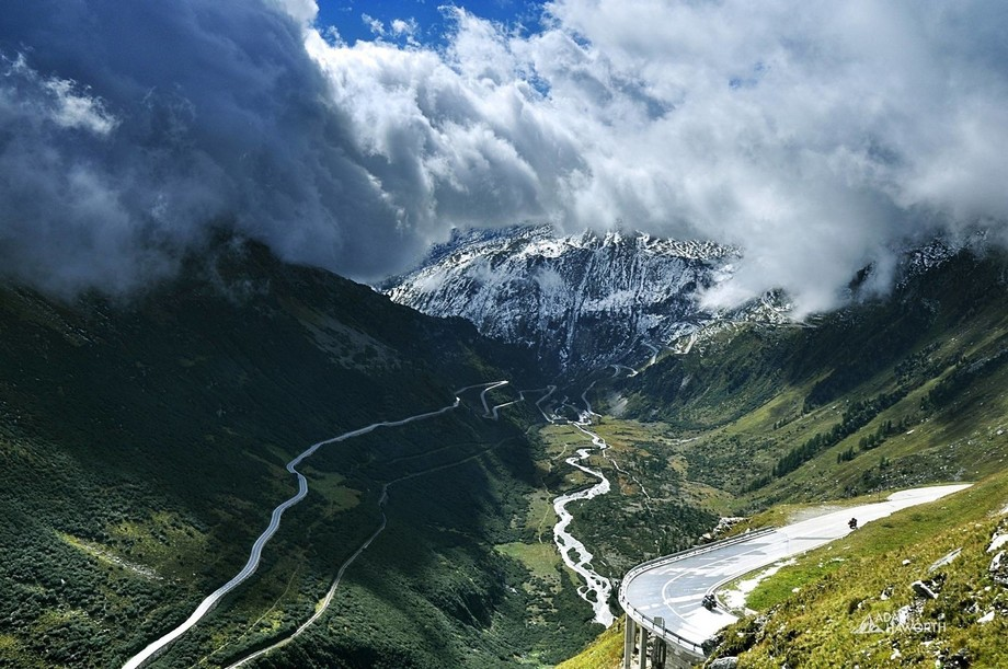 I took this picture while on a road trip of Europe, we drove over the Furka Pass in Switzerland a...