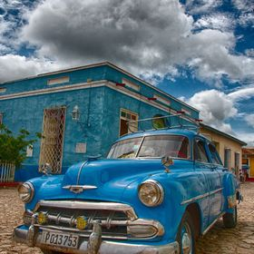 One of many beauties encountered while wandering around Trinidad in Cuba.