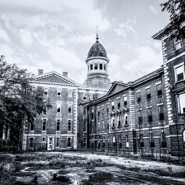 "The Babcock Building was part of the South Carolina State Hospital (formerly called the South Carolina Lunatic Asylum) complex in Columbia South Carolina.  Construction of the ""new asylum"" took place between 1857 and 1885."