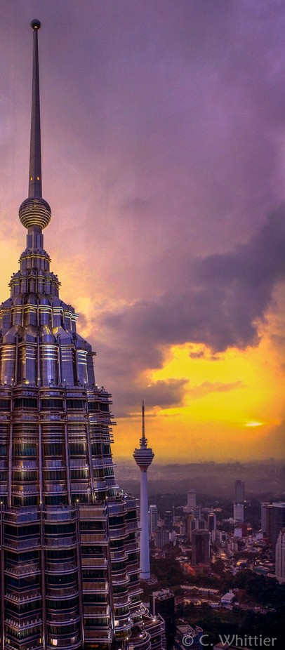 Petronas Tower Sunset by chriswhittier - Explore Asia Photo Contest