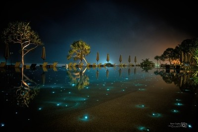 The Fortress swimming pool @ night