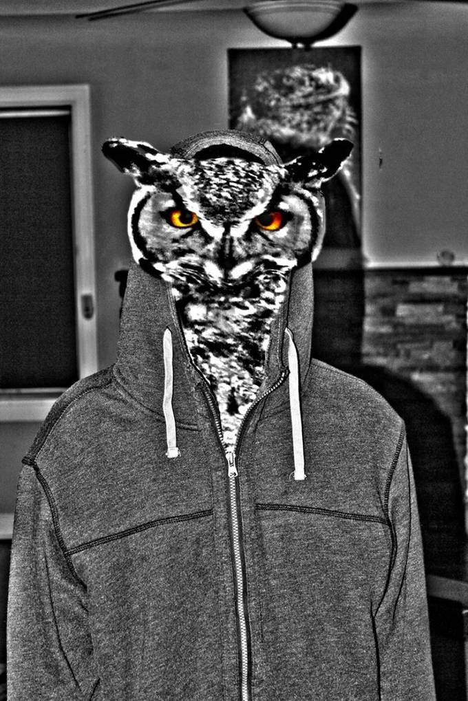 This was a morphing project that I did for my photoshop2 class...I'm going to have a lot of fun in this class I can already tell...this is my roommate and his spirit animal haha