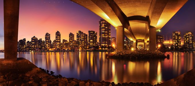 Under The Cambie Street Bridge by jasondarr - Color In The Night Photo Contest