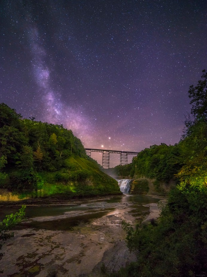 Letchworth State Park at Night by markpapke - Nature And The Night Photo Contest