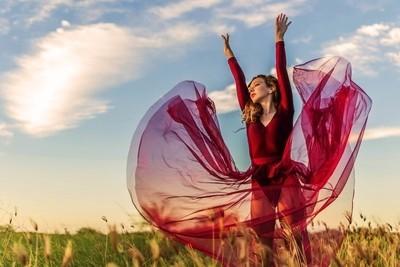 Burgundy Ballet at Sunset