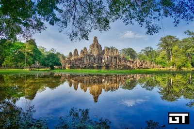 Bayon temple after the rain