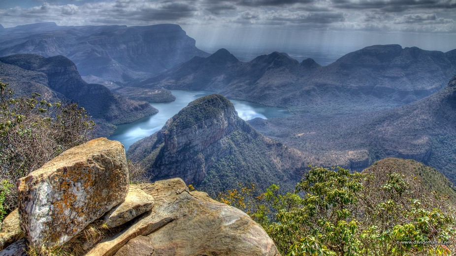 Three Rondavels Viewpoint at Blyde River Canyon (SouthAfrica)