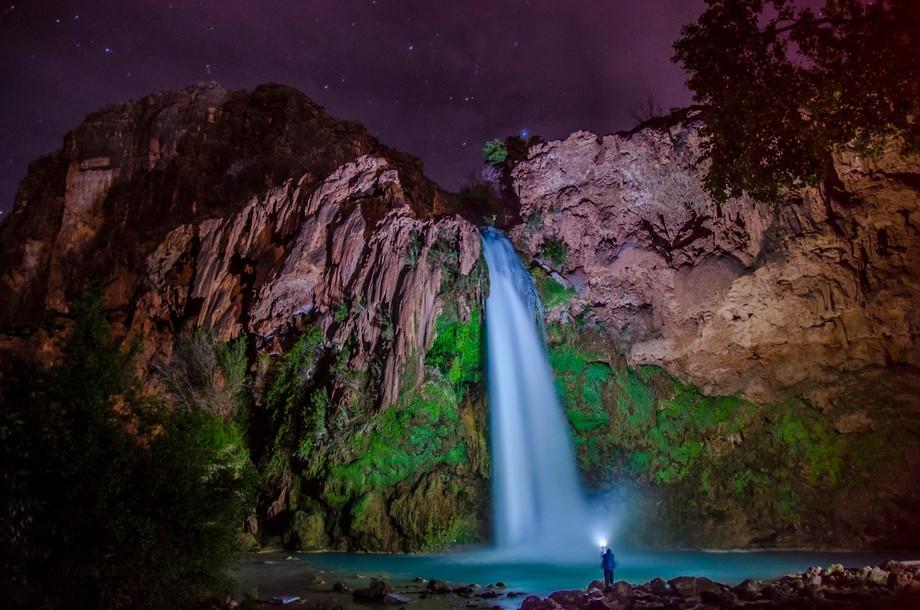 Havasu Fall After Dark (Supai, AZ)