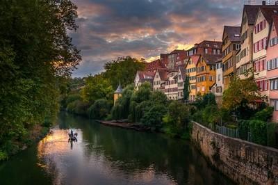 Sunset in Tubingen