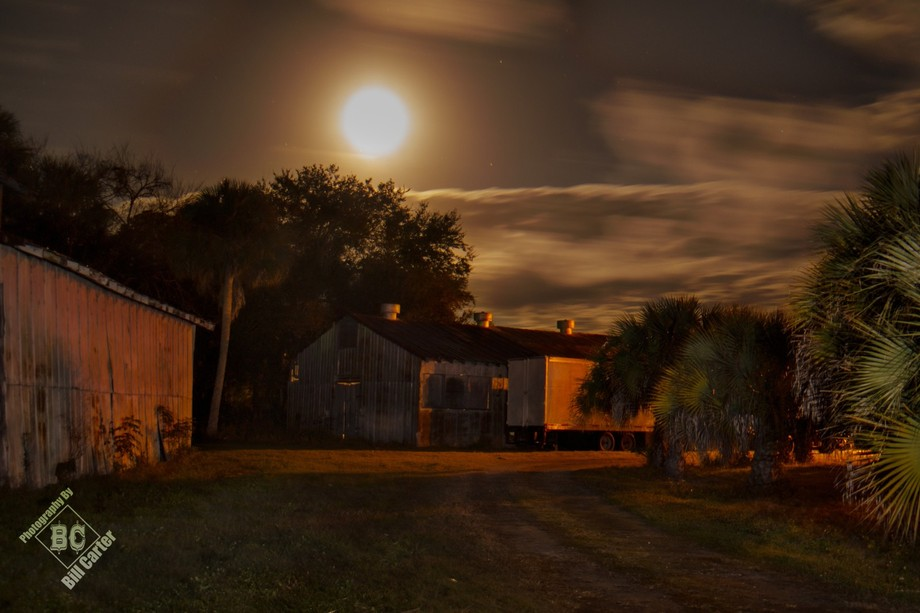 A 30 second time exposure, with manual hand-held strobe fired multiple times, to individually lig...
