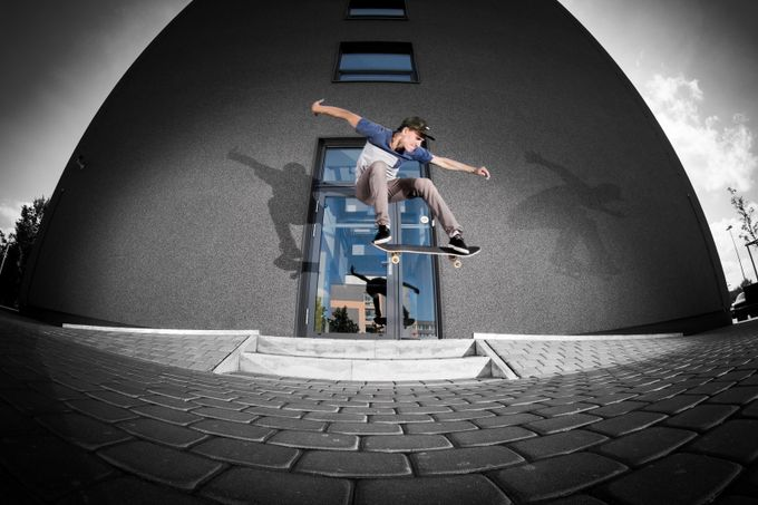 Most of the time im spending on skateboarding and photography around this sport,so this is my first skateboarding photo for viewbug.  Arturs Nesaule - Ollie