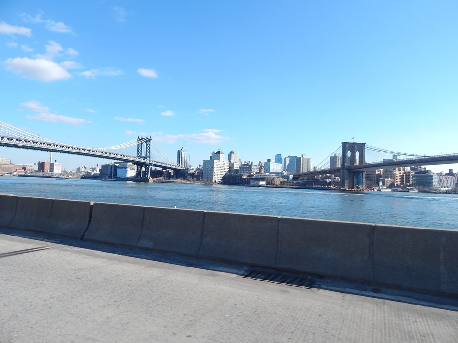While traveling through NYC I took this shot of the bridges!