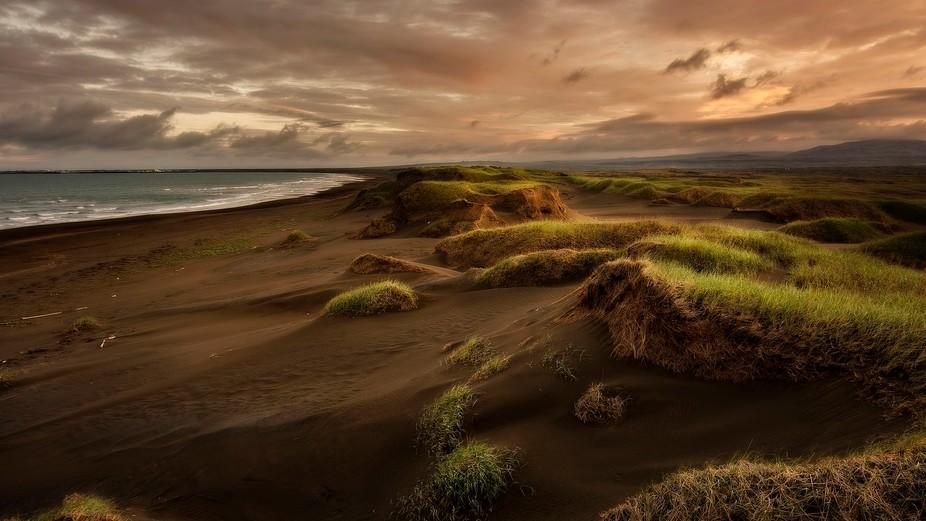 Beach near Eyrarbakki, Iceland.