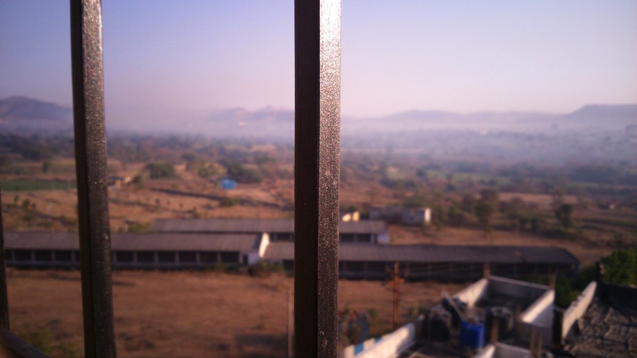 1st day morning at my camp and while peeking outside window i got this view and thought of captur...