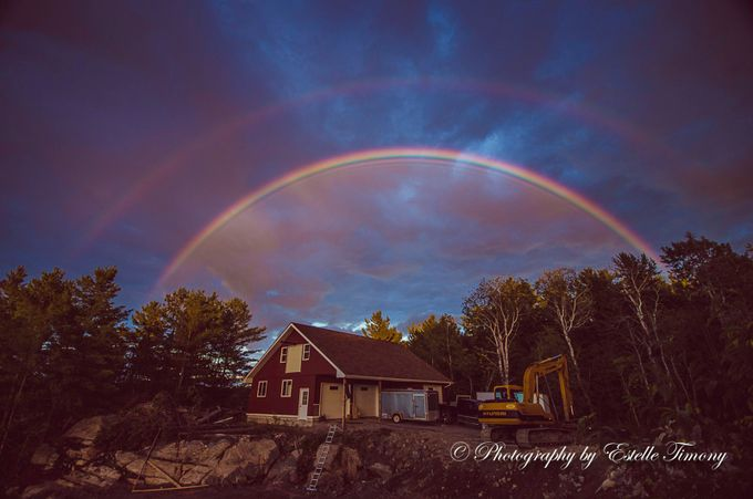 Double rainbow- by EstelleTimony - Rainbows Overhead Photo Contest