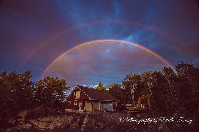 Double rainbow- by EstelleTimony - Rainbows Overhead Photo Contest