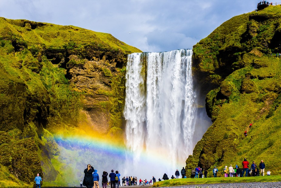 Waterfall in sout  Iceland