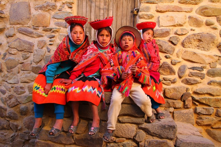 Our family adventure took us to this Incan town in the Sacred Valley - amazing ruins and these co...