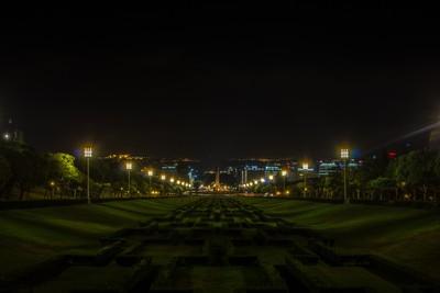 Eduardo VII Park at night