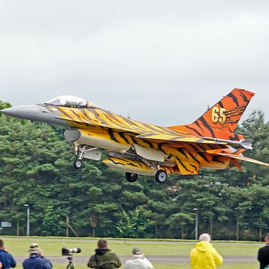 Belgian Air Force F16 in its Tiger painted scheme