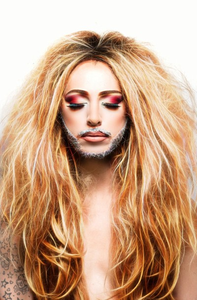Drag Queen drama with mascara and hair
