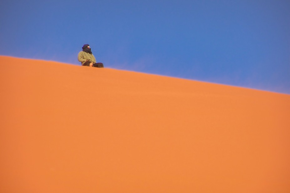 It was my first time in the Sahara desert in Algeria. We climbed the biggest dune in the Tadrart ...