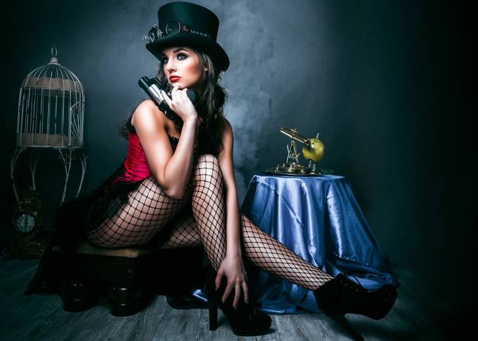 Steampunk and the 45 by darcysutphin-delia - Hats Photo Contest