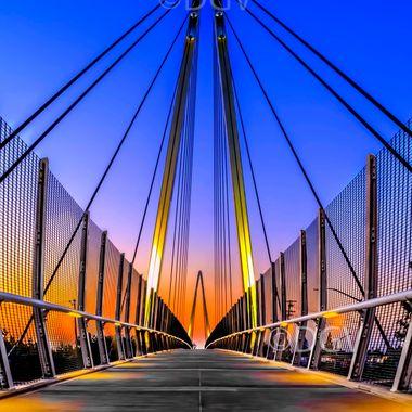 Mary Ave Bridge at Sunset