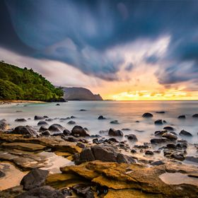 Sunset at Hideaways Beach in Kauai