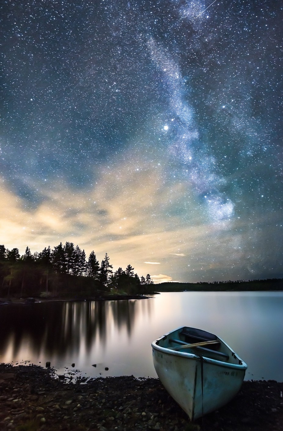 Night by the Lake by peterfoldiak - Color In The Night Photo Contest