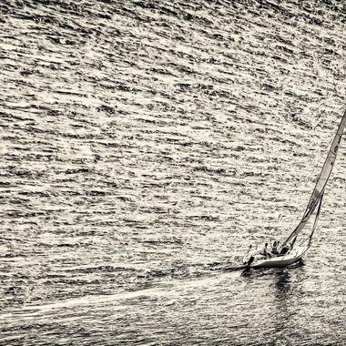 Sailboat on the Cooper River, Charleston, South Carolina