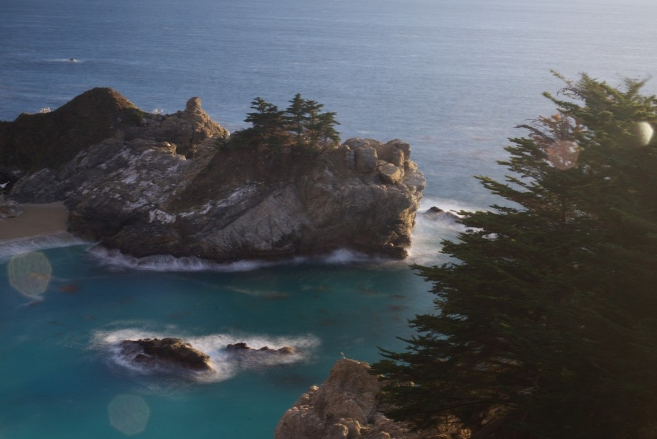 California's rocky coast.