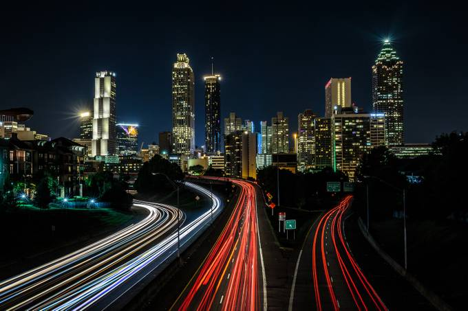 Atlanta from Jackson Street Bridge by ericcriswell