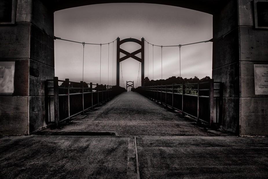 Bridge shot at sunset, HDR