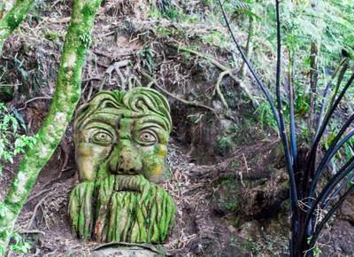 Carving in bush