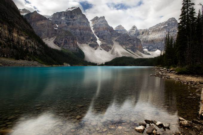 Dull Moraine Lake, AB by Yannick - The Zen Moment Photo Contest