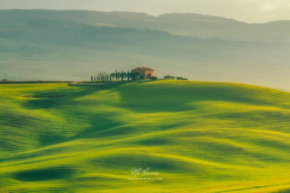 An early morning frame of Val d'Orcia, Tuscany!