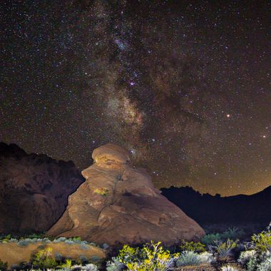 Valley of Fire, Milky way