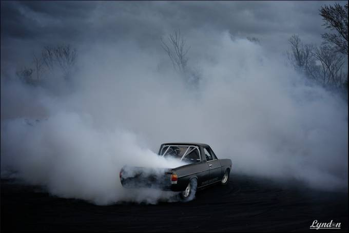 Angry Datsun by kiwidragonfly - Everything Smoke Photo Contest